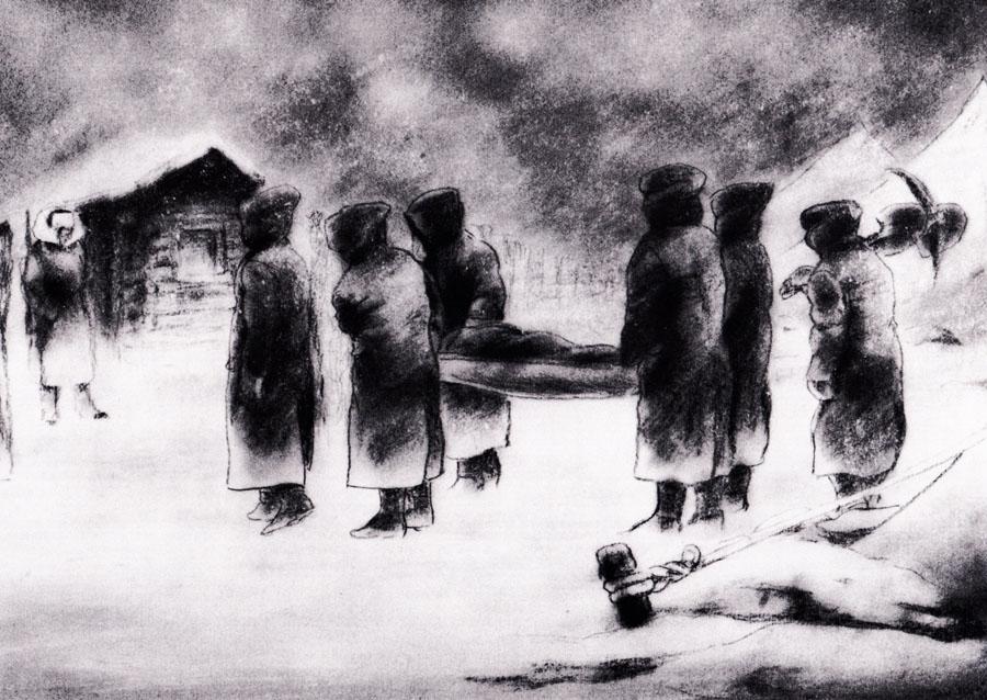 134-135: 死体を運び出す | Japanese Interned in Siberia